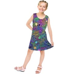 Starbursts Biploar Spring Colors Nature Kids  Tunic Dress