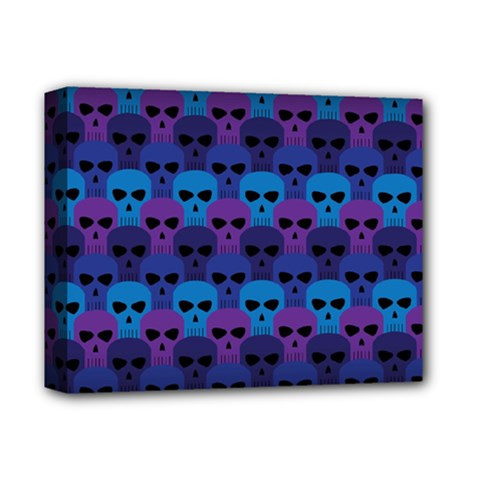 Skull Pattern Wallpaper Deluxe Canvas 14  X 11  by BangZart
