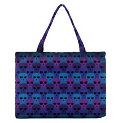 Skull Pattern Wallpaper Medium Zipper Tote Bag