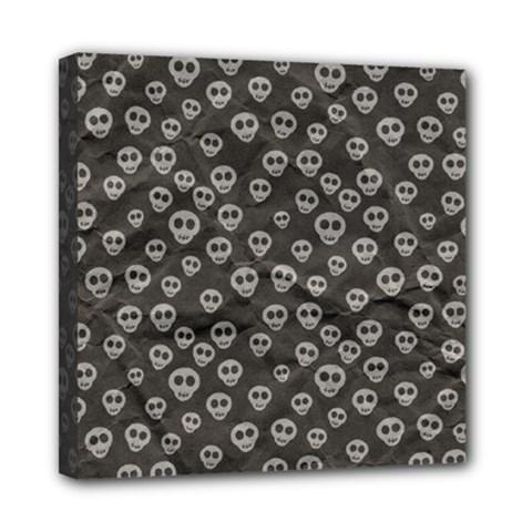 Skull Halloween Background Texture Mini Canvas 8  X 8  by BangZart