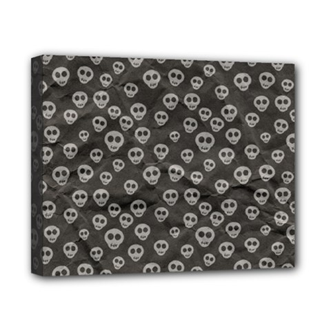 Skull Halloween Background Texture Canvas 10  X 8  by BangZart