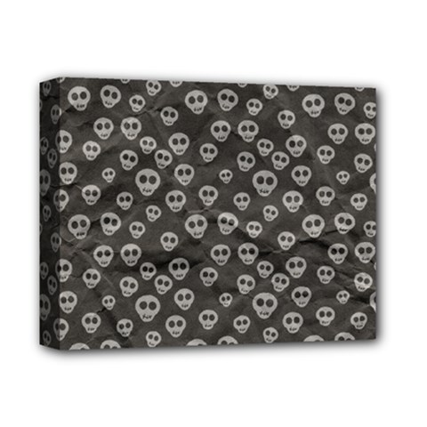 Skull Halloween Background Texture Deluxe Canvas 14  X 11  by BangZart