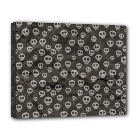 Skull Halloween Background Texture Deluxe Canvas 20  X 16   by BangZart