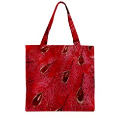 Red Peacock Floral Embroidered Long Qipao Traditional Chinese Cheongsam Mandarin Zipper Grocery Tote Bag by BangZart