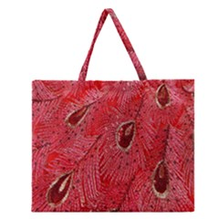 Red Peacock Floral Embroidered Long Qipao Traditional Chinese Cheongsam Mandarin Zipper Large Tote Bag by BangZart