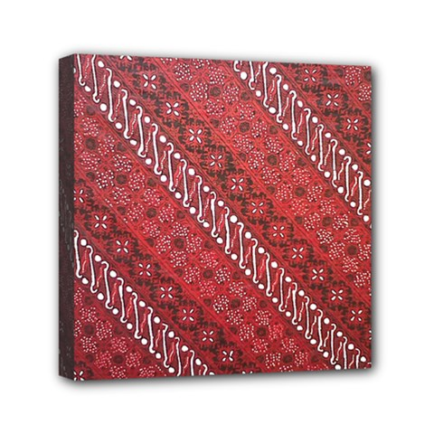 Red Batik Background Vector Mini Canvas 6  X 6  by BangZart