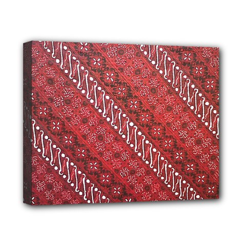 Red Batik Background Vector Canvas 10  X 8  by BangZart