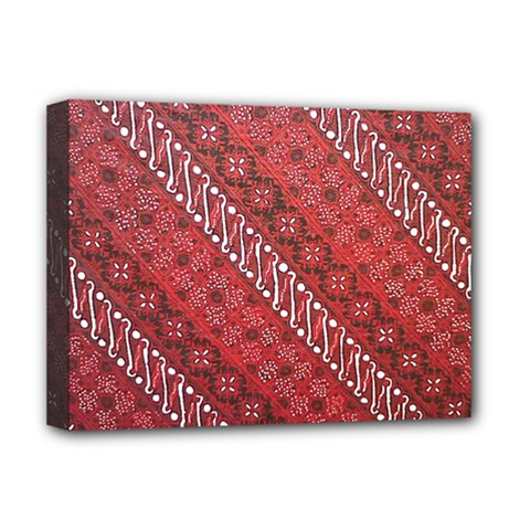 Red Batik Background Vector Deluxe Canvas 16  X 12   by BangZart