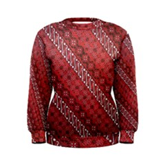Red Batik Background Vector Women s Sweatshirt