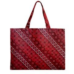 Red Batik Background Vector Zipper Mini Tote Bag by BangZart