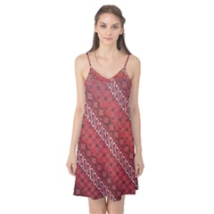 Red Batik Background Vector Camis Nightgown