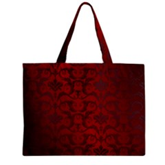 Red Dark Vintage Pattern Zipper Mini Tote Bag by BangZart