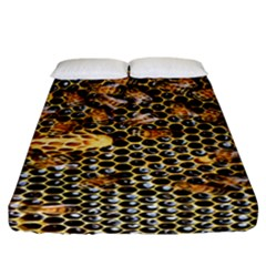 Queen Cup Honeycomb Honey Bee Fitted Sheet (california King Size)