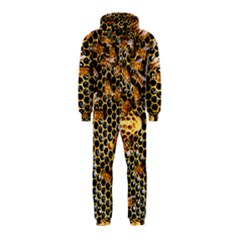 Queen Cup Honeycomb Honey Bee Hooded Jumpsuit (kids)
