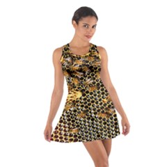 Queen Cup Honeycomb Honey Bee Cotton Racerback Dress
