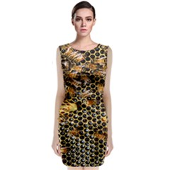 Queen Cup Honeycomb Honey Bee Classic Sleeveless Midi Dress