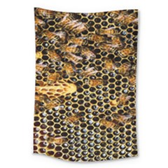 Queen Cup Honeycomb Honey Bee Large Tapestry by BangZart