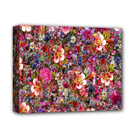 Psychedelic Flower Deluxe Canvas 14  X 11  by BangZart