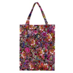 Psychedelic Flower Classic Tote Bag by BangZart