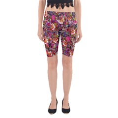 Psychedelic Flower Yoga Cropped Leggings