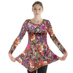Psychedelic Flower Long Sleeve Tunic