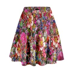 Psychedelic Flower High Waist Skirt by BangZart