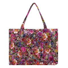 Psychedelic Flower Medium Tote Bag by BangZart
