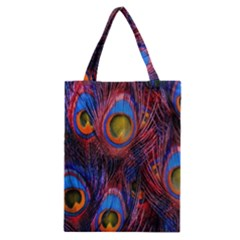 Pretty Peacock Feather Classic Tote Bag by BangZart