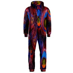 Pretty Peacock Feather Hooded Jumpsuit (men)