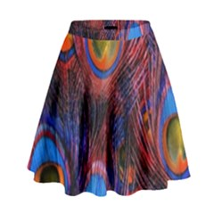 Pretty Peacock Feather High Waist Skirt by BangZart