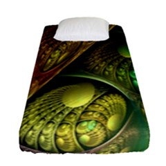 Psytrance Abstract Colored Pattern Feather Fitted Sheet (single Size)