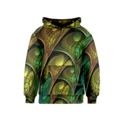 Psytrance Abstract Colored Pattern Feather Kids  Pullover Hoodie