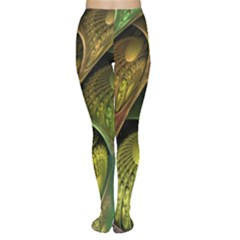 Psytrance Abstract Colored Pattern Feather Women s Tights by BangZart