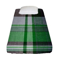Plaid Fabric Texture Brown And Green Fitted Sheet (single Size) by BangZart