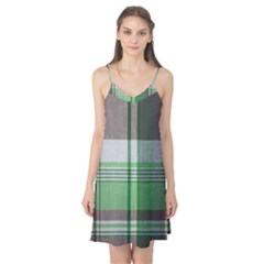 Plaid Fabric Texture Brown And Green Camis Nightgown