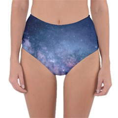 Galaxy Nebula Astro Stars Space Reversible High Waist Bikini Bottoms by paulaoliveiradesign