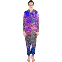 Poetic Cosmos Of The Breath Hooded Jumpsuit (ladies)  by BangZart