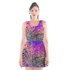 Poetic Cosmos Of The Breath Scoop Neck Skater Dress
