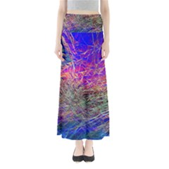 Poetic Cosmos Of The Breath Full Length Maxi Skirt