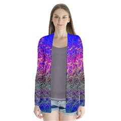 Poetic Cosmos Of The Breath Drape Collar Cardigan