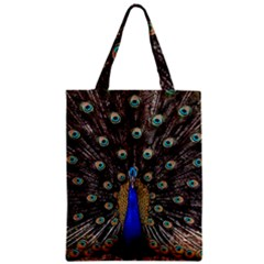 Peacock Zipper Classic Tote Bag by BangZart