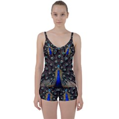 Peacock Tie Front Two Piece Tankini