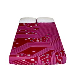 Pink Circuit Pattern Fitted Sheet (full/ Double Size)