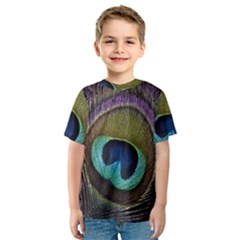 Peacock Feather Kids  Sport Mesh Tee