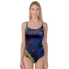 Peacock Feather Retina Mac Camisole Leotard