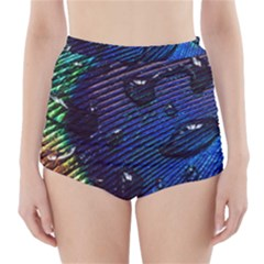 Peacock Feather Retina Mac High Waisted Bikini Bottoms