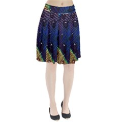 Peacock Feather Retina Mac Pleated Skirt