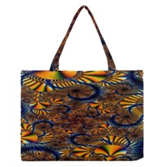 Pattern Bright Medium Zipper Tote Bag
