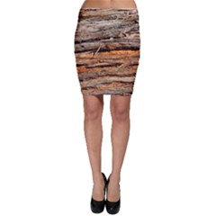 Natural Wood Texture Bodycon Skirt