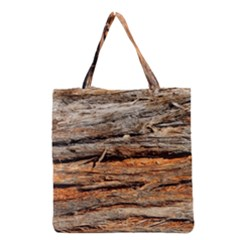 Natural Wood Texture Grocery Tote Bag by BangZart